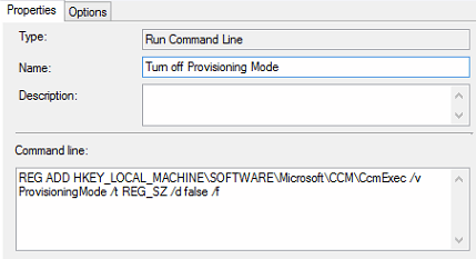 SCCM - Turn off provisioning mode