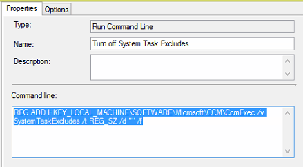 SCCM - Turn off task sequence schedules