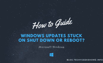 Windows Updates Stuck on Shut Down or Reboot