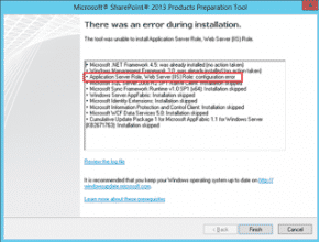 SharePoint Foundation 2013 Pre-requisite Tool Failure