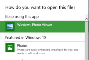 How get Windows Photo Viewer working in Windows 10