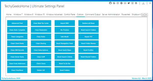 Ultimate Settings Panel Outlook