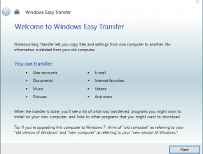 Windows Easy Transfer for Windows 10
