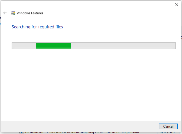 Windows Features Installation Searching for required files