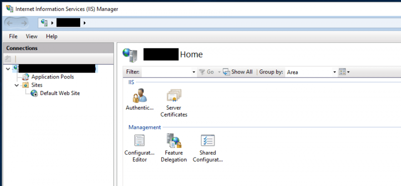 IIS Management Console