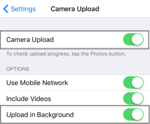 Auto Upload iOS Photos to OneDrive 4