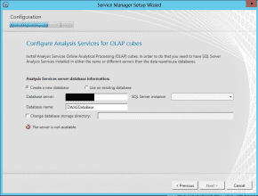 System Center Service Manager Data Warehouse Analysis Services installation error