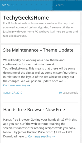 WordPress Mobile Theme Problems 1