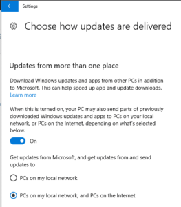 Are Microsoft using your computer as a Windows Update distribution point? 5