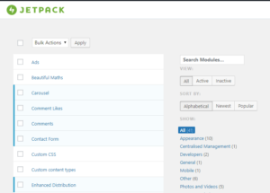 WordPress - JetPack Activate Missing Modules 4