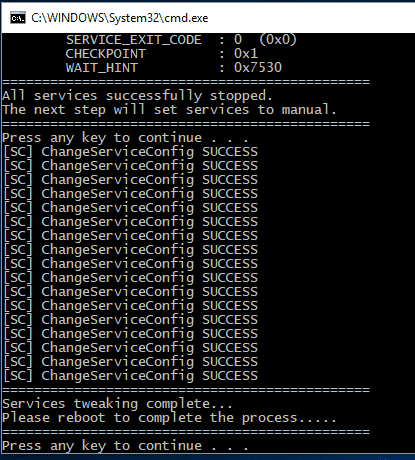 Service Tweaker for Windows Screen shot