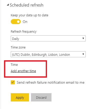 Power BI - Refresh data every working hour 3