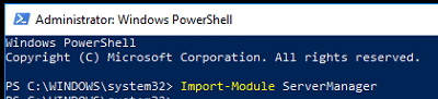 Powershell Import Server Manager Module 1