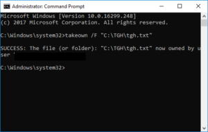 How to take ownership of a Windows File 3