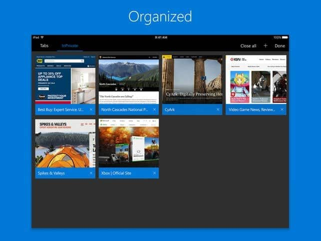 Microsoft Edge Released for iOS and Android 2