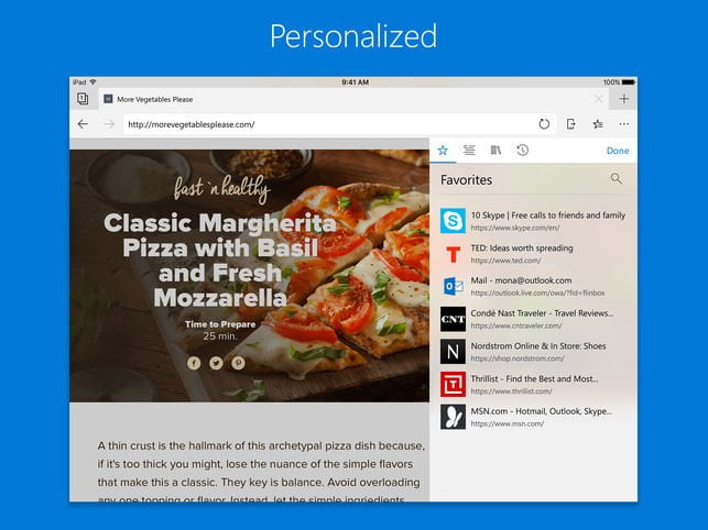 Microsoft Edge Released for iOS and Android 4