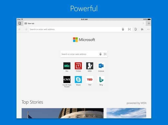 Microsoft Edge Released for iOS and Android 5