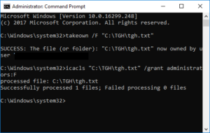 How to take ownership of a Windows File 4