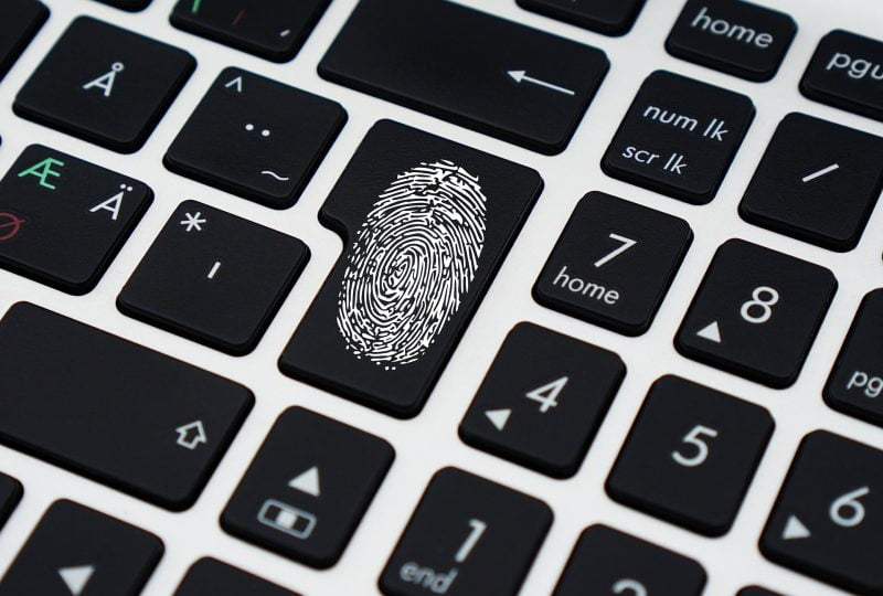 cybersecurity, keyboard, computer security, fingerprint