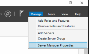 Server Manager Properties