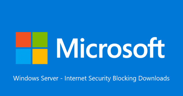 Microsoft Server Internet Security Settings Enable Downloads 1