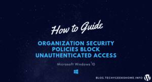Organization security policies block unauthenticated access