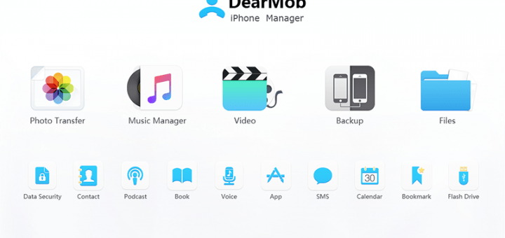 DearMob iPhone Manager Main UI