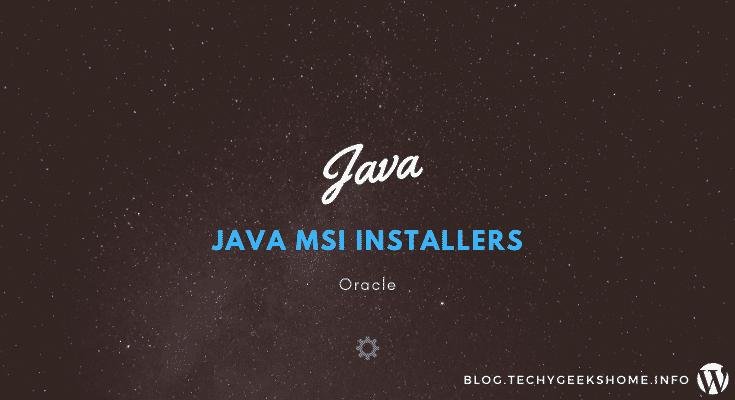 Java MSI Installers
