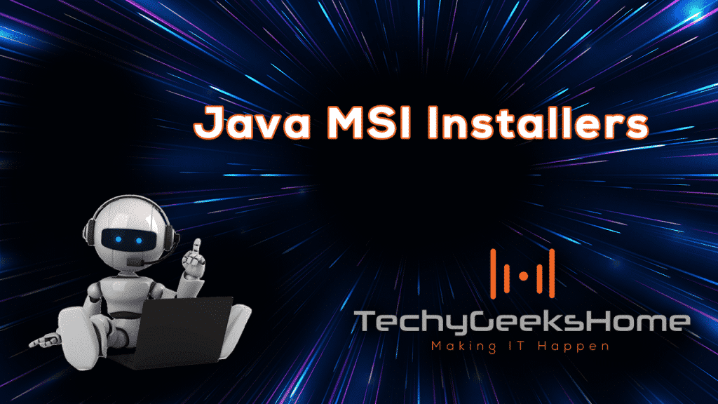 MSI Installers for Java Screenshot