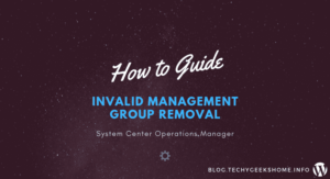 Invalid Management Group Removal