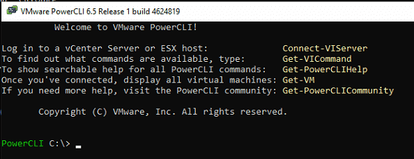 VMWare PowerCLI Console