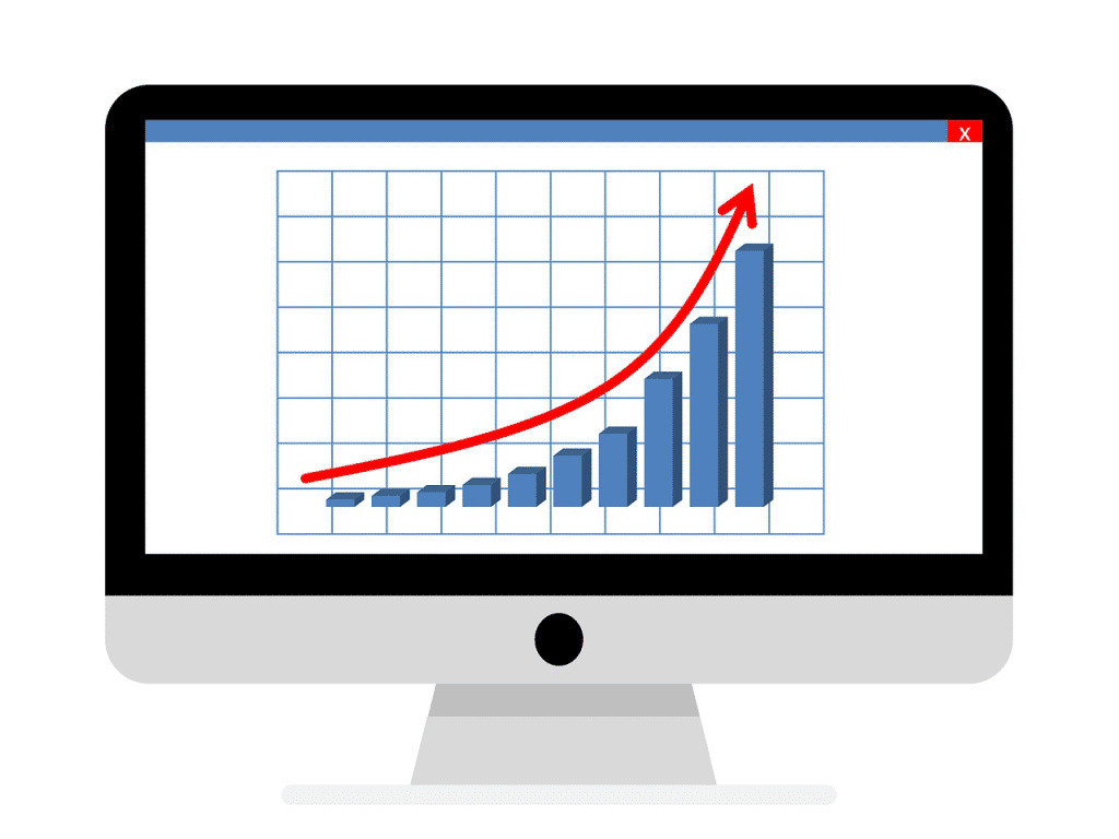 business report growth chart