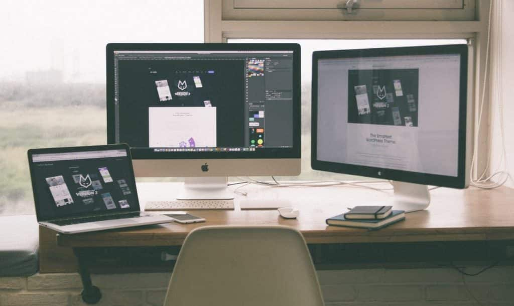 Featured Image - Apple Desk and Monitors