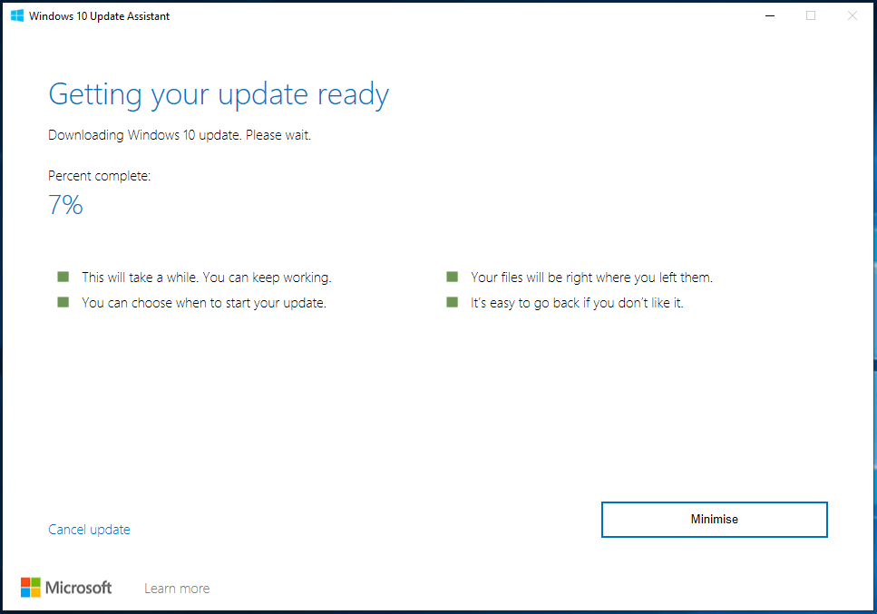 How to Manually Update to Windows 1903 1