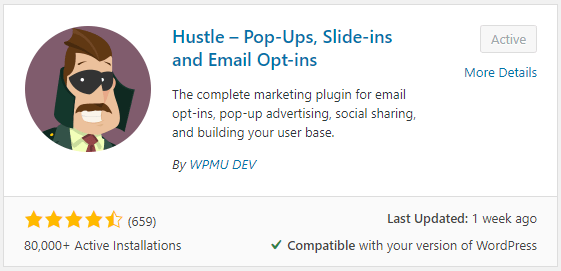 Hustle WordPress Plugin Installation