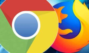 chrome and firefox logos