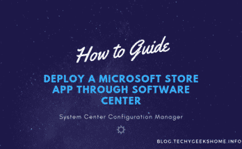 Deploy a Microsoft Store App through Software Center