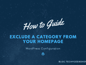WordPress – How to Exclude a Category from your Homepage