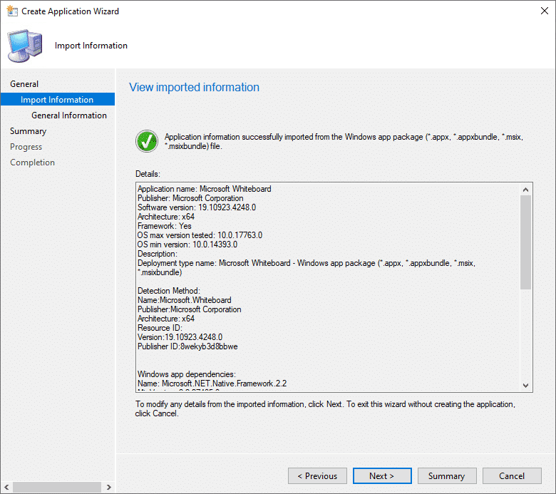 SCCM Deployment Wizard Summary Page Success.png