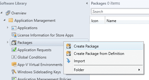 SCCM Create Package