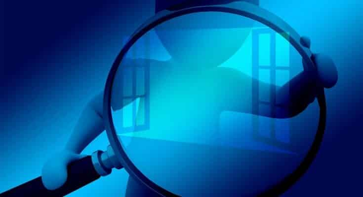 blue search image