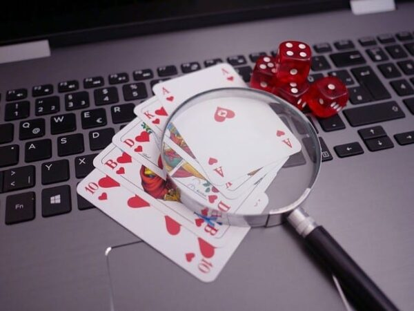 cards and laptop