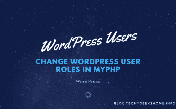 Change WordPress User Roles in myPHP