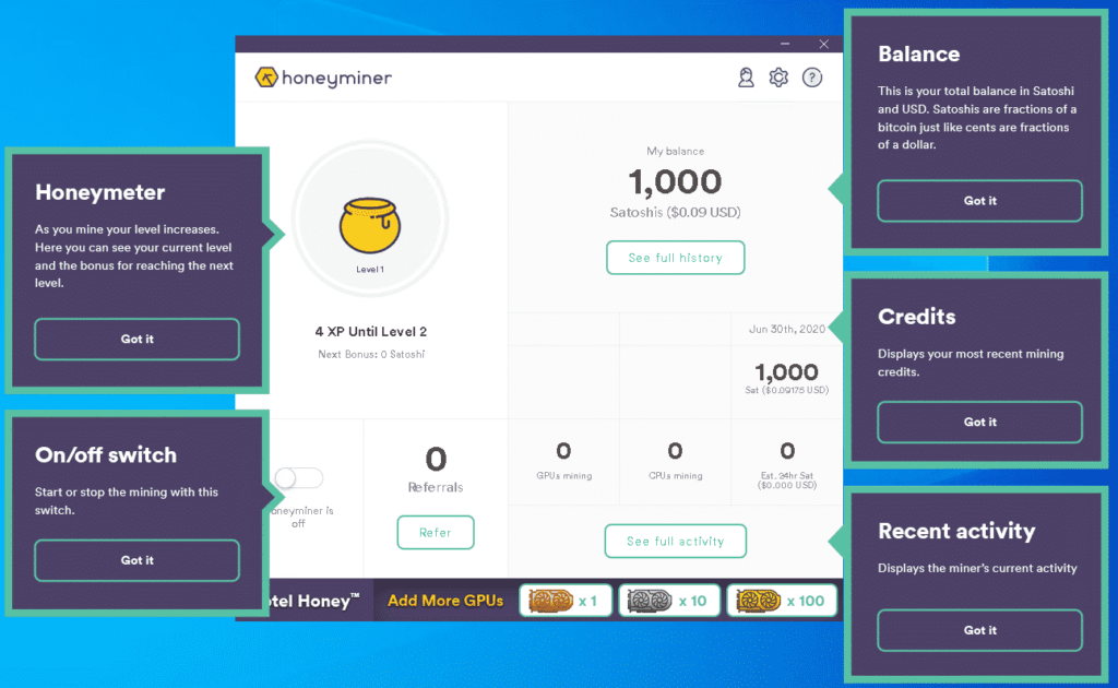 Honeyminer Utility Walkthrough