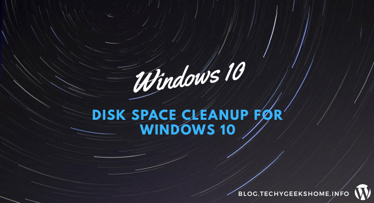 Save disk space on windows 10