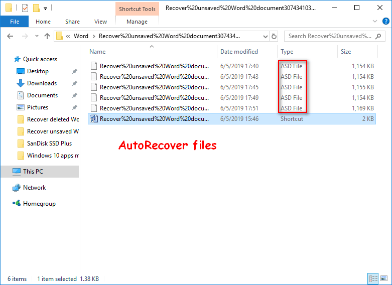 Two Ways to Successfully Recover Unsaved Word Document on Windows 6