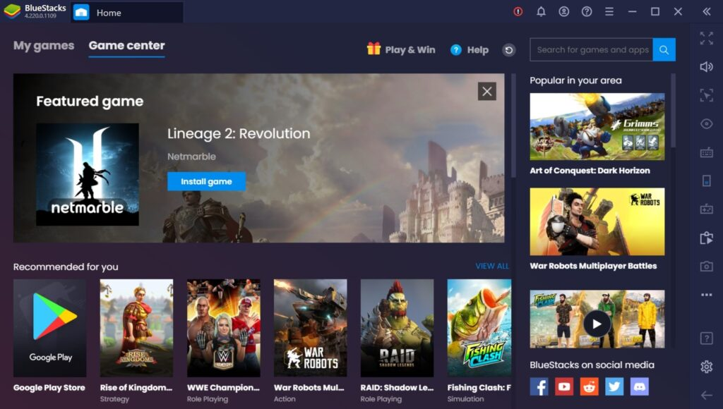 How to run Android apps on PC with BlueStacks 1