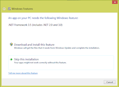 Windows 8 Features Install