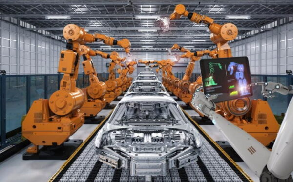 cyborg control robot assembly line