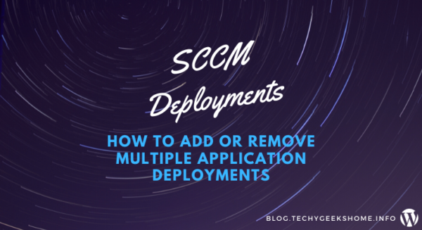 How to add or remove multiple sccm application deployments